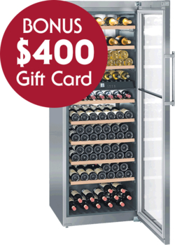 Liebherr WTes 5972 Vinidor Dual Zone Free Standing Wine Cellar with BONUS $400 Gift Card